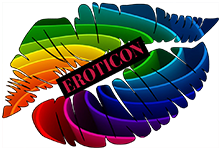 The Eroticon rainbow lips icon