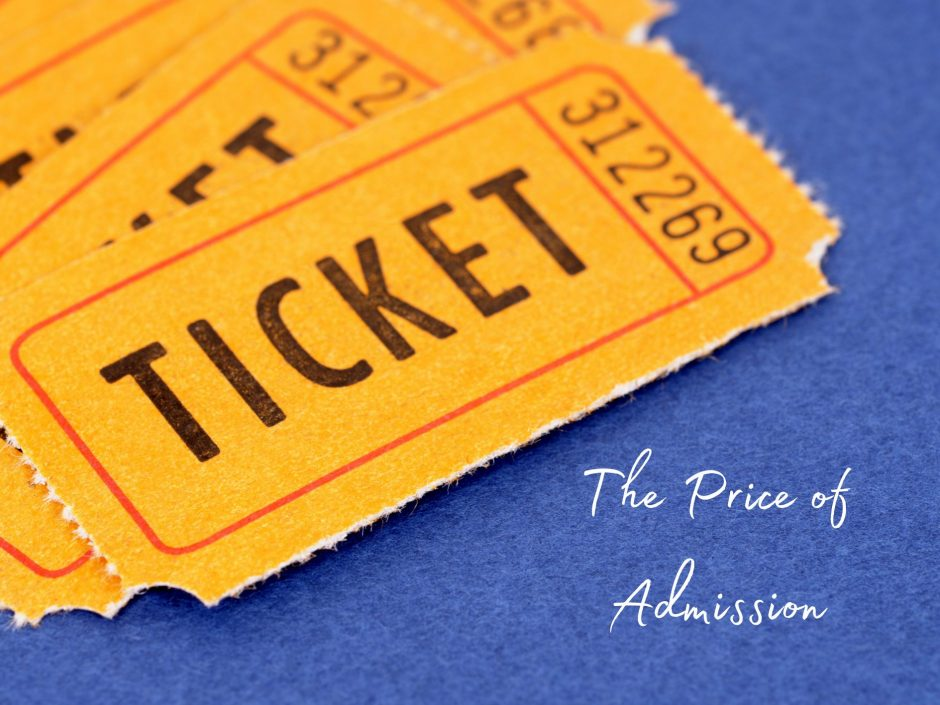Header image for a post on the relationship price of admission