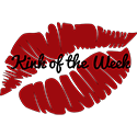 The red Kink Of The Week lips badge
