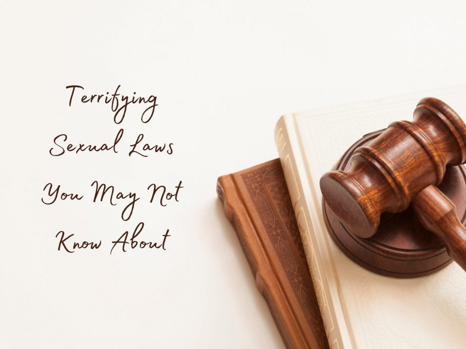 Header image for a post about past and present sexual laws in the UK