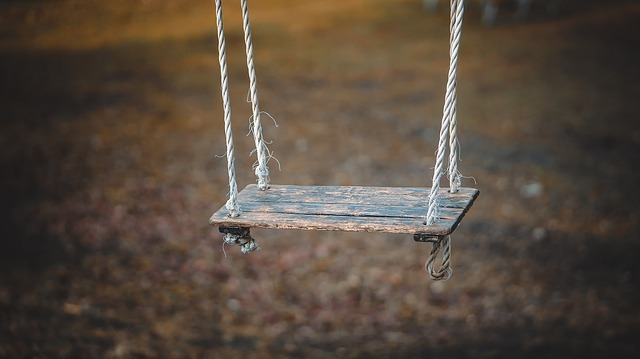 A close up of a swing, for a post about the problems with the swinging scene