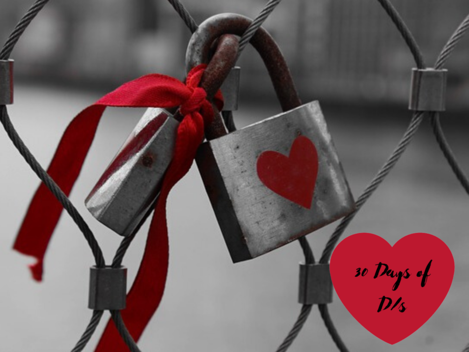 A padlock with a heart locked to a fence. For a post about 24/7 D/s