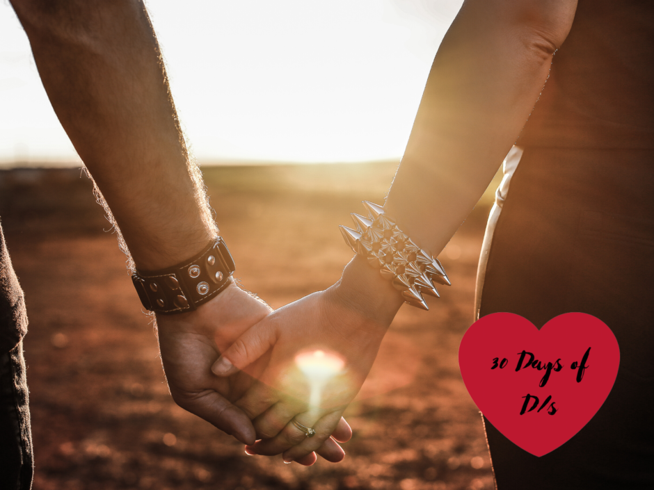 Two people holding hands. Header image for a 30 Days of Ds post about being on the same team.