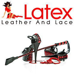 The Latex Leather and Lace company banner.