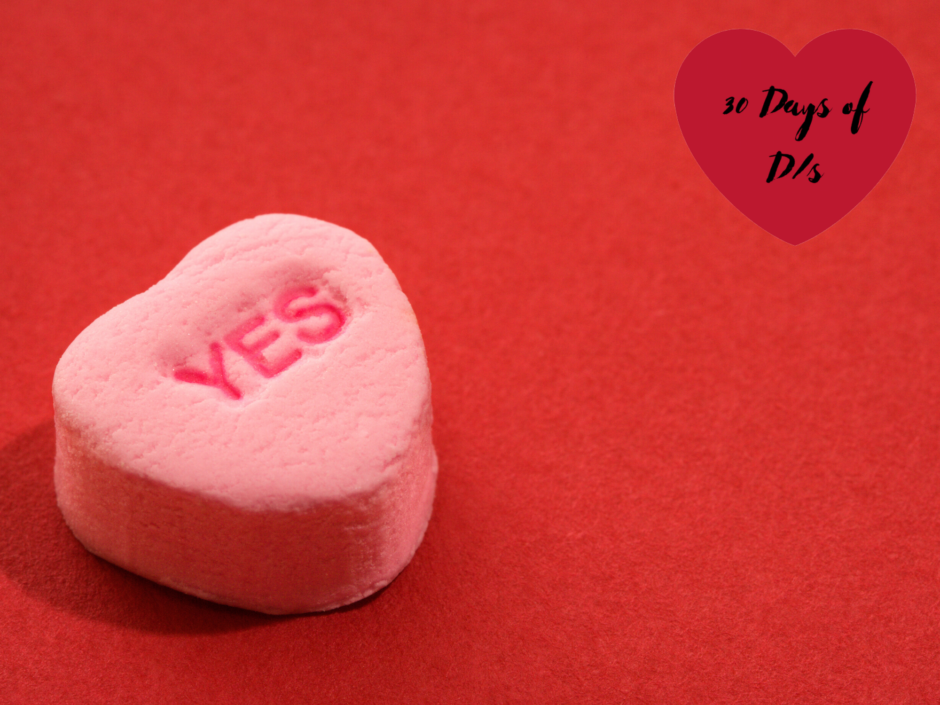 "A candy heart with the word ""YES,"" for a post about consent"