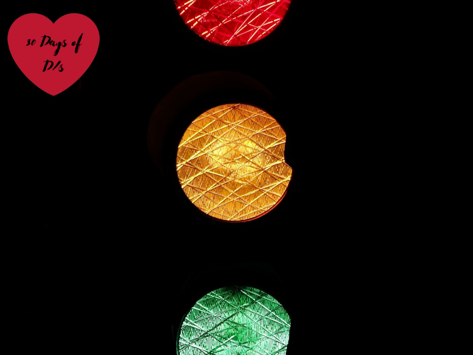 A set of traffic lights. For a post about safewords and other safety tools
