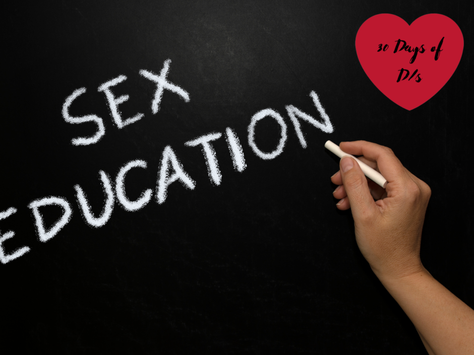 "The words ""sex education"" on a chalkboard, for a post about what I wish my parents had taught me about sex"