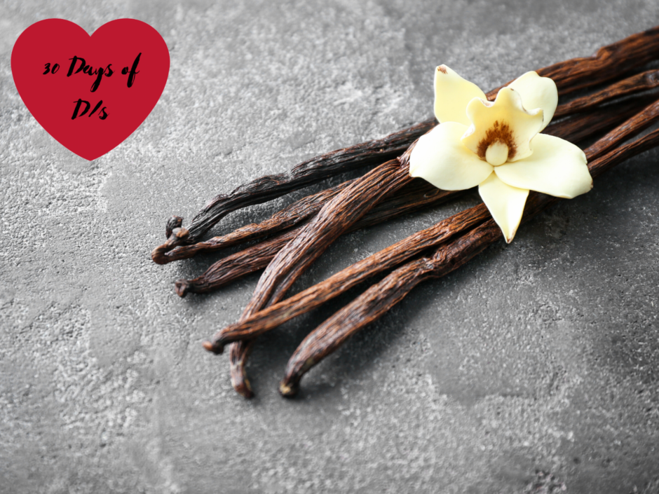 Some vanilla pods and flower for a post about vanilla sex