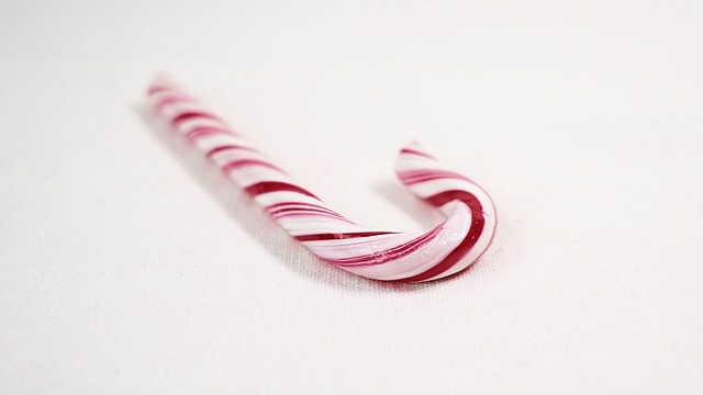 A red and white candy cane. For a Masturbation Monday story about a girl being punished by caning.