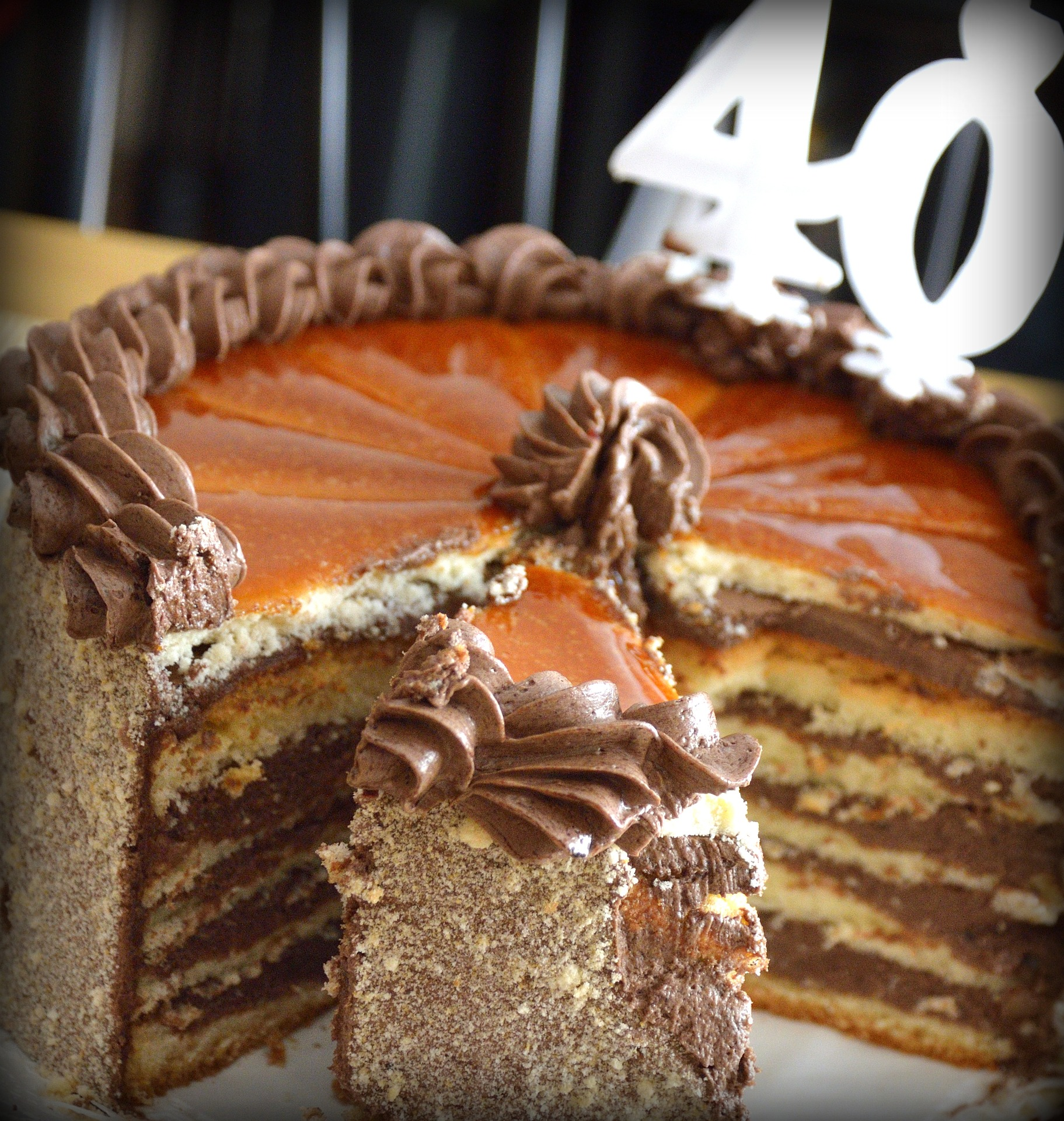 A 40th birthday cake, for a guest post on sex after 40 by Evelyn Archer