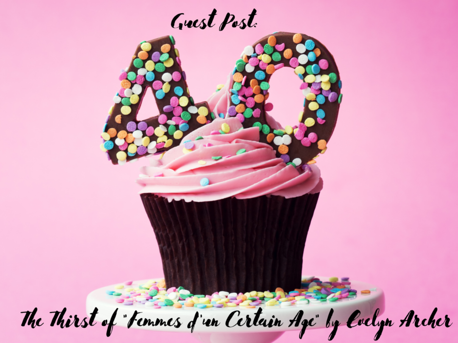 A 40th birthday cupcake with brightly coloured sprinkles. For a guest post by Evelyn Archer