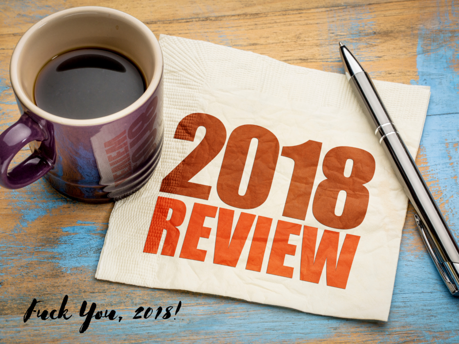 A coffee cup and napkin. For a review post of 2018