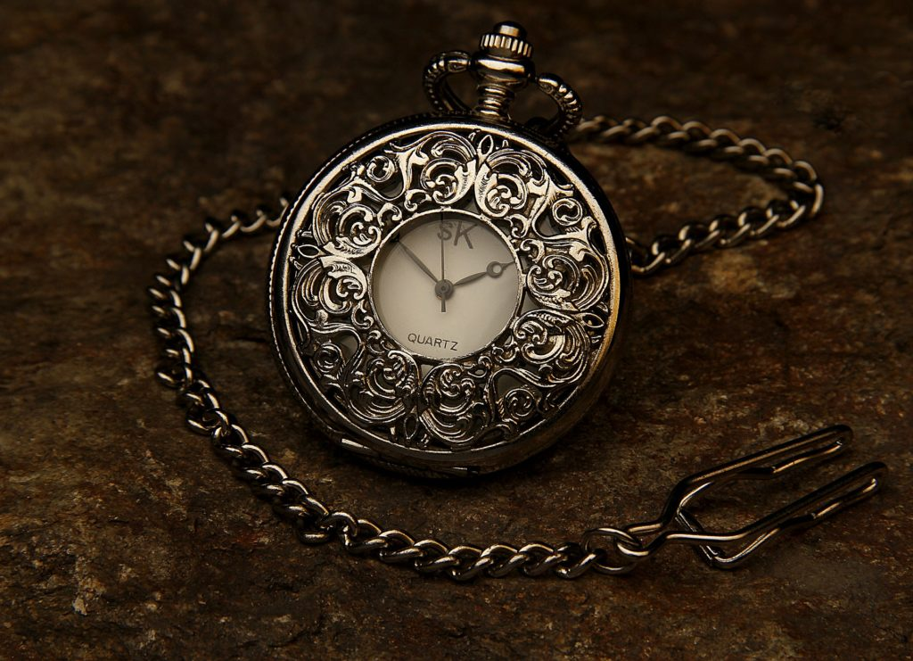 A pocket watch. For a piece of erotica called Question Game