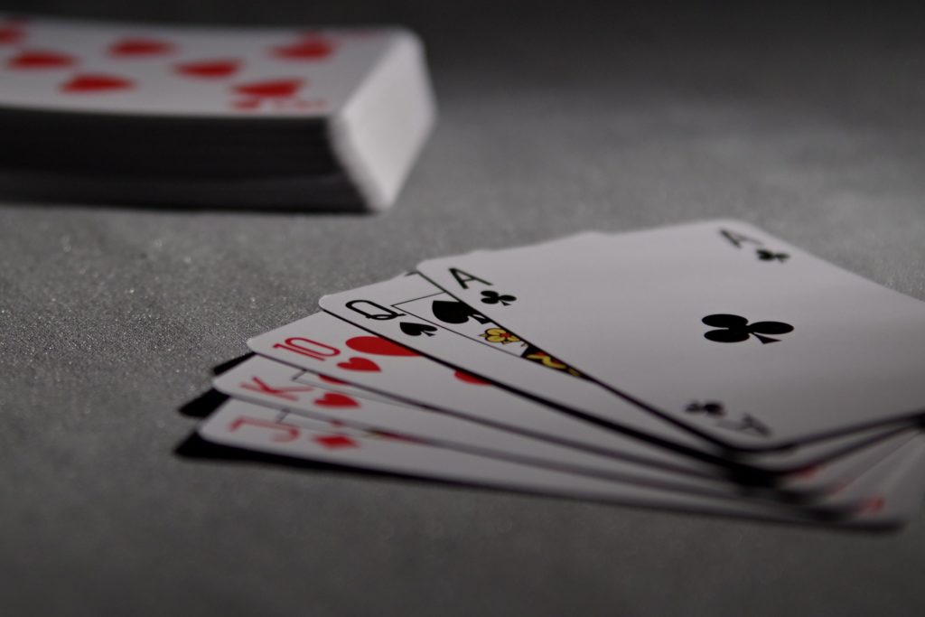 A hand of cards. For a post called Love Shouldn't Be a Game of Mao