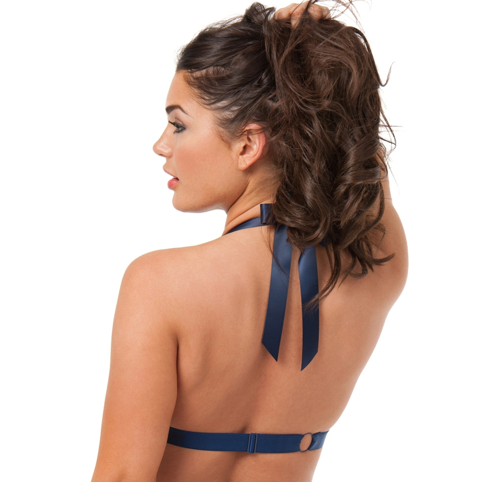 Back view of the model wearing the Free Spirit lingerie bra by Lovehoney