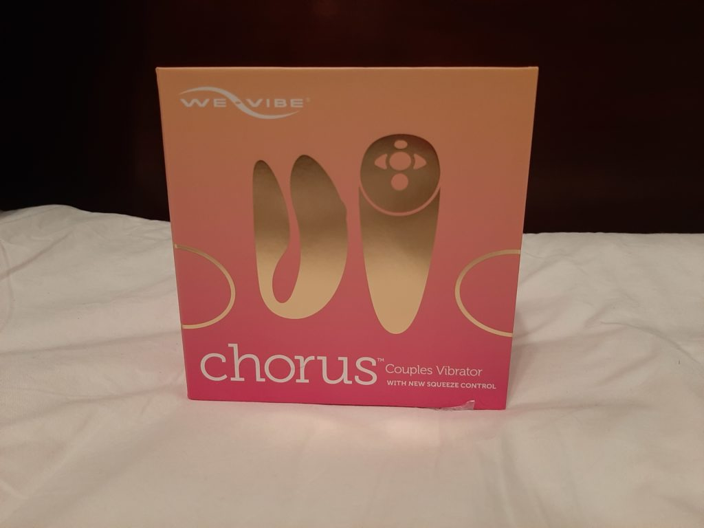 The We-Vibe Chorus in its box