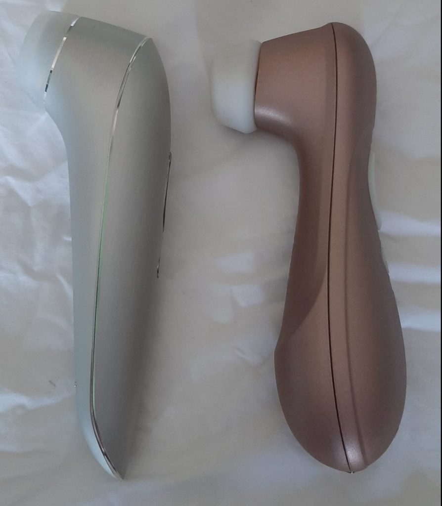 The Satisfyer High Fashion and Satisfyer Pro 2 Vibration side by side