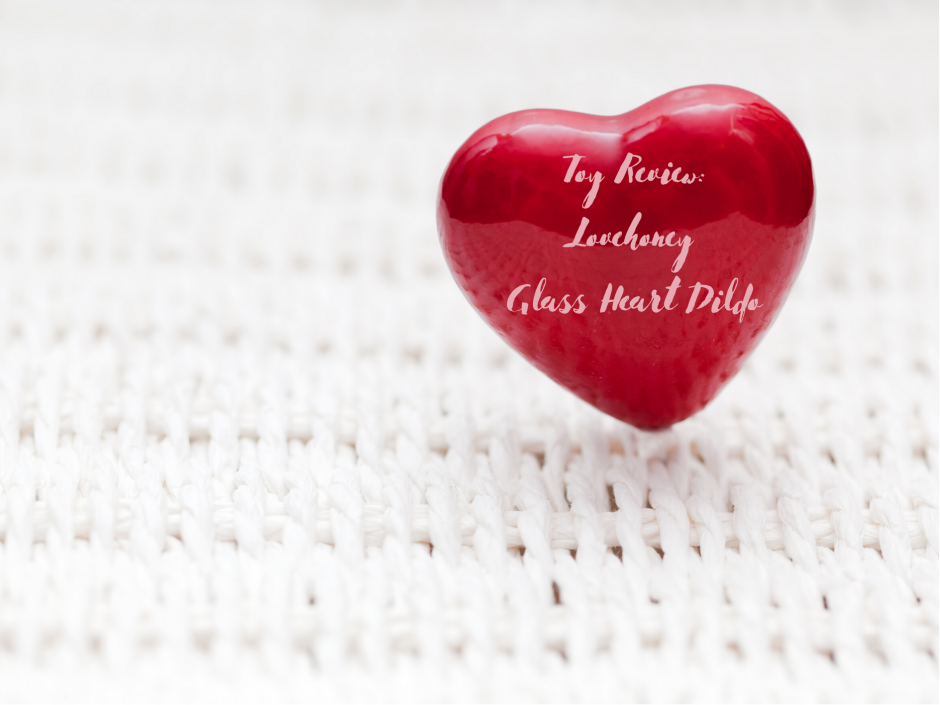 Header image for a review of the Lovehoney Beaded Glass Heart Dildo