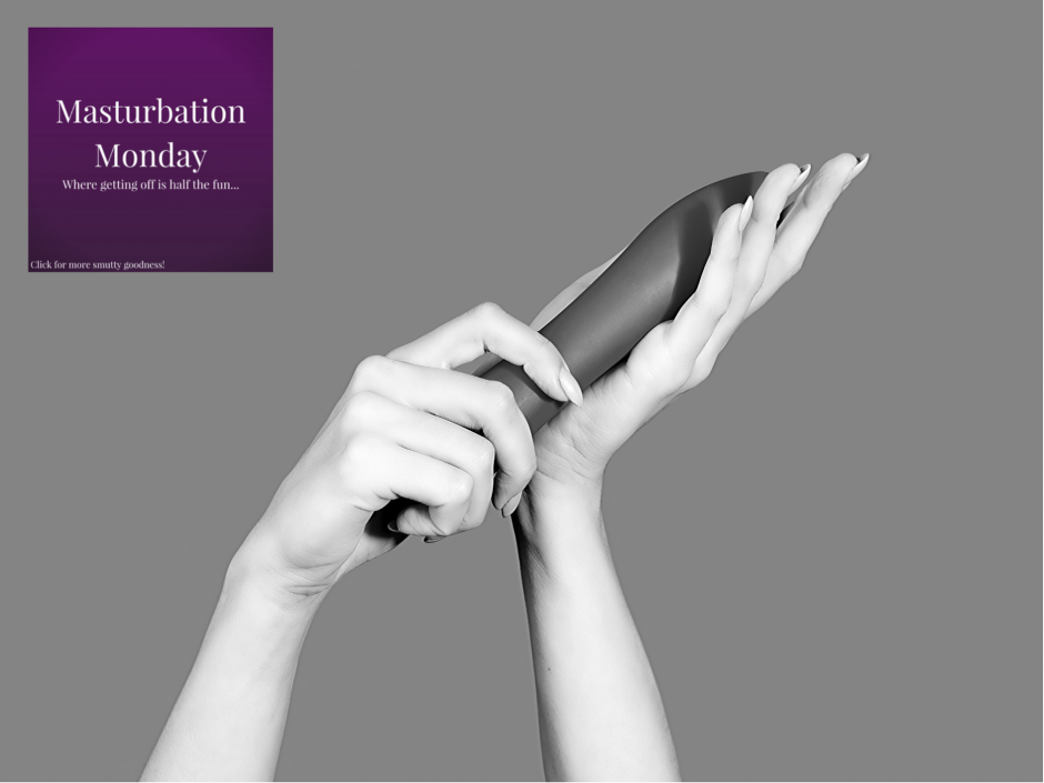 A pair of hands holding a sex toy. For a Masturbation Monday post on wanking as work