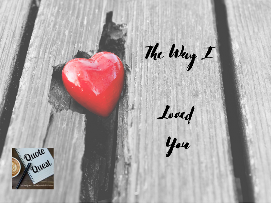 A heart on a wooden floor. Header image for a post about loving the way I loved my exes.