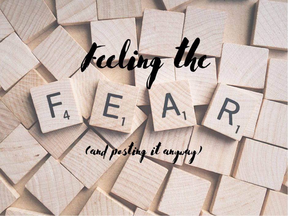 Header image featuring scrabble letters spelling out the word fear
