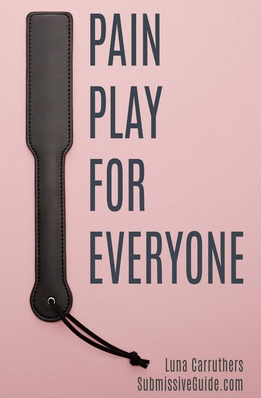 Pain Play for Everyone by Luna Carruthers book cover, featuring a pink background and picture of a paddle.
