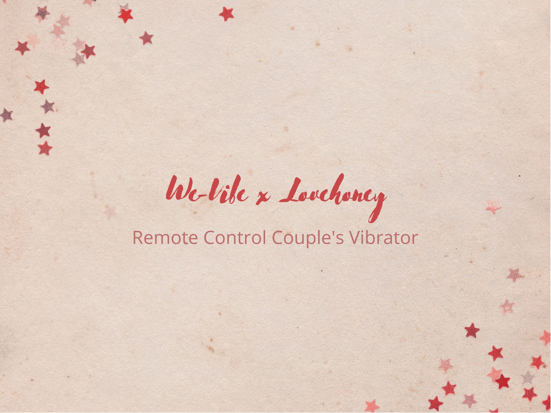 [Toy Review] We-Vibe x Lovehoney Remote Control Couple's Vibrator