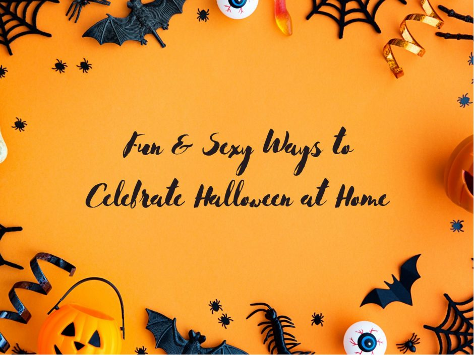 Header image for a post on celebrating Halloween at home