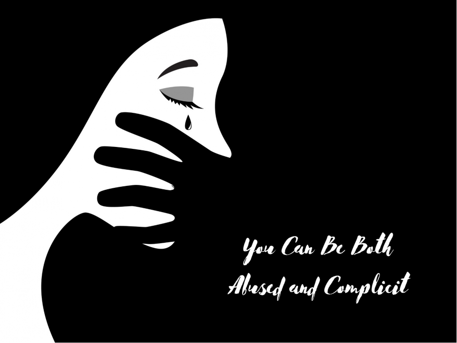 Header image for a post about being complicit in abuse