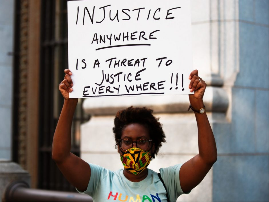 Header image for a post about speaking out against injustice