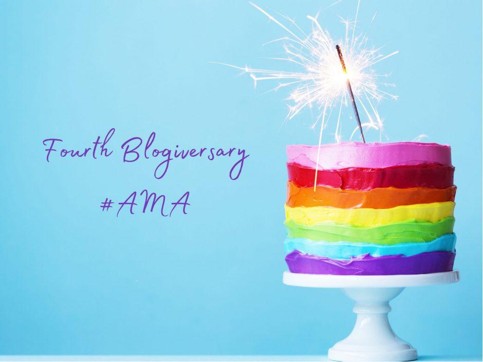 Header image for fourth blogiversary AMA