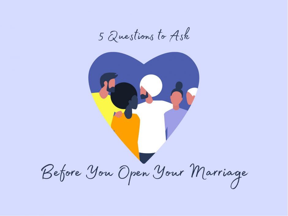 Header for a guest post by Minda Lane about questions to ask before you open your marriage