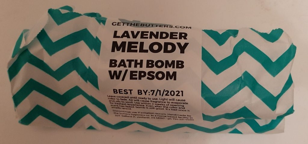 Lavender Melody Bath Bomb from The Butters Hygienics Co