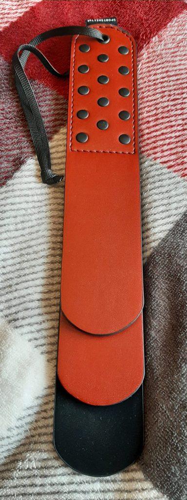 Vegan paddle from Sportsheets - Saffron Layer Paddle