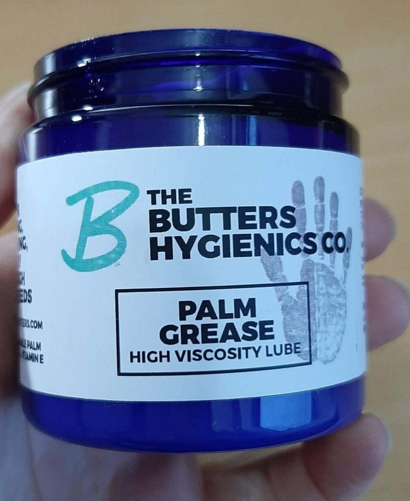 The Butters Palm Grease oil-based lube