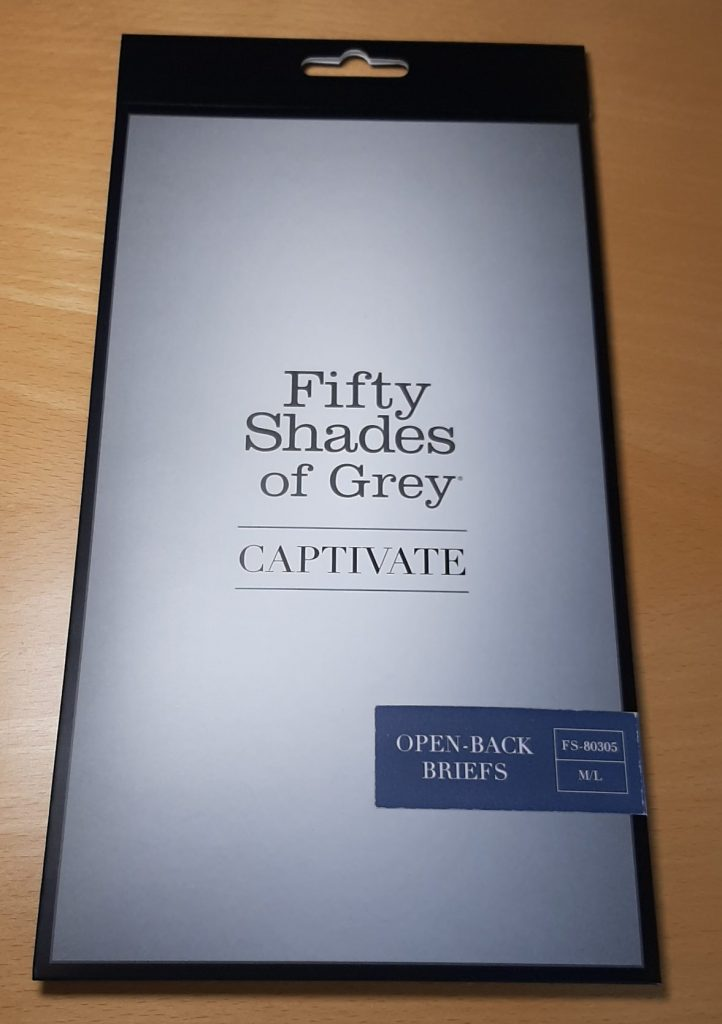 Fifty Shades of Grey Captivate knickers packaging