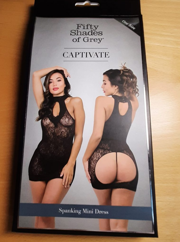 Fifty Shades of Grey spanking dress packaging