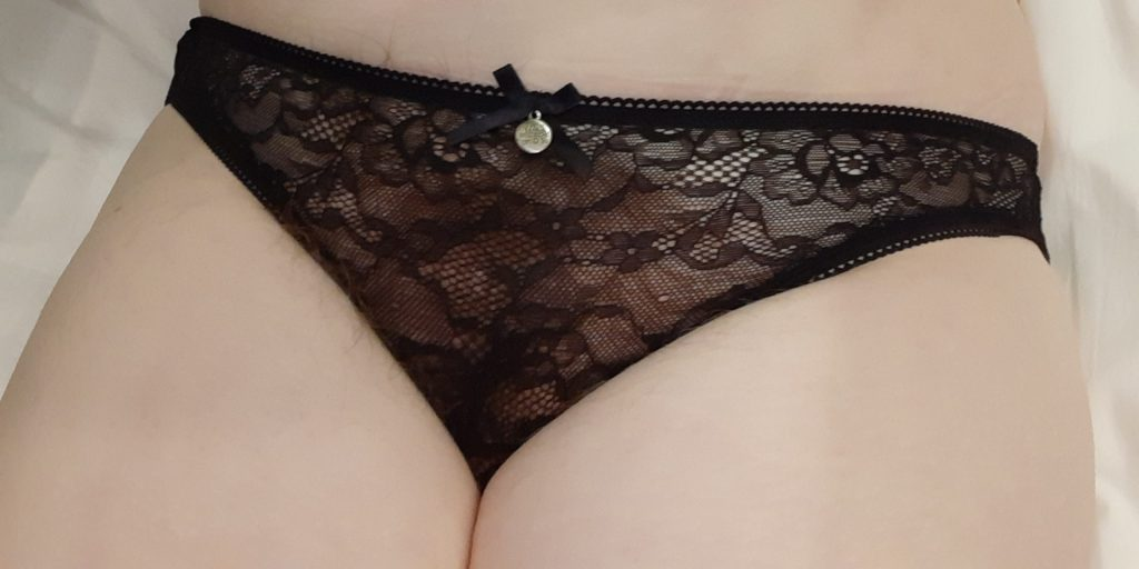Fifty Shades of Grey Captivate black lace open-back knickers