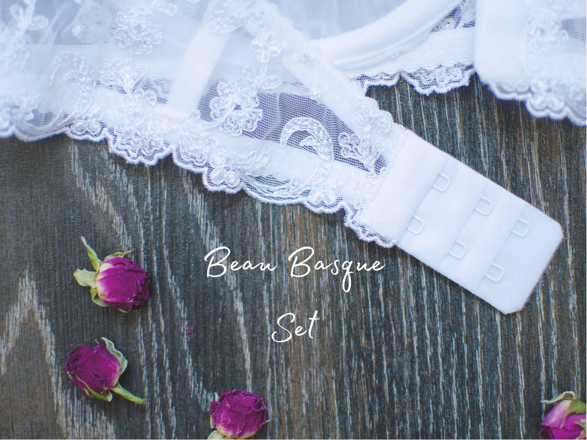 [Lingerie Review] Lovehoney Beau White Lace Basque Set