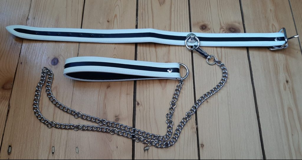 BDSM collar and leash set