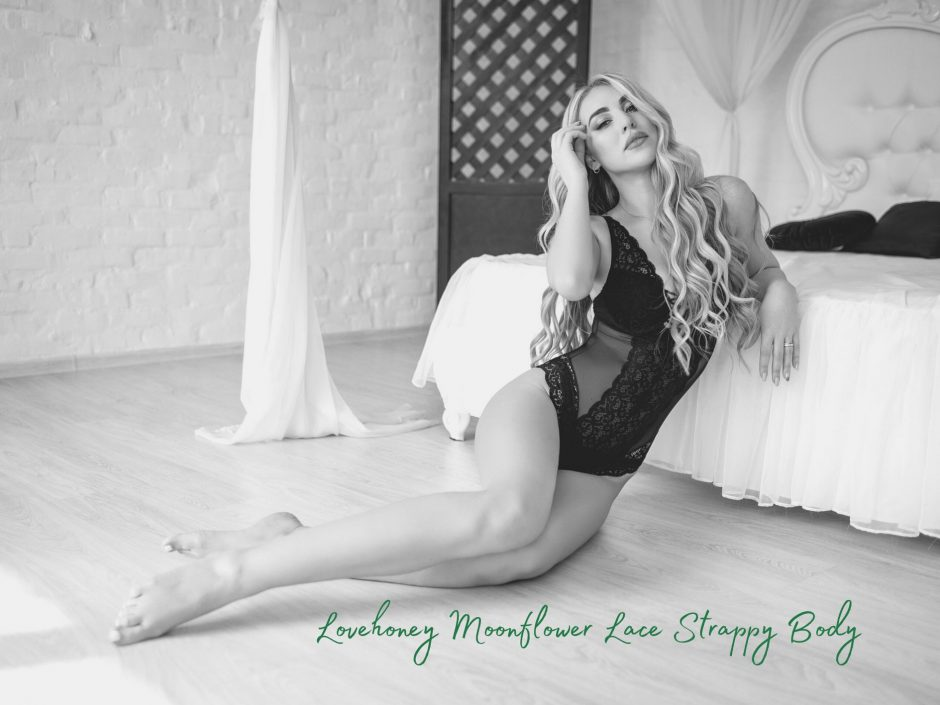 Header image for Moonflower lingerie green lace bodysuit review