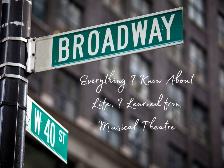 Header for a post about life lessons from musical theatre