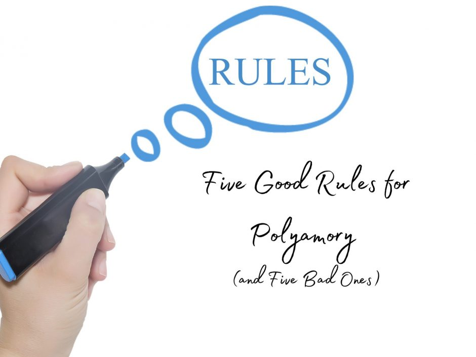 Header image for a post about good and bad rules for polyamory