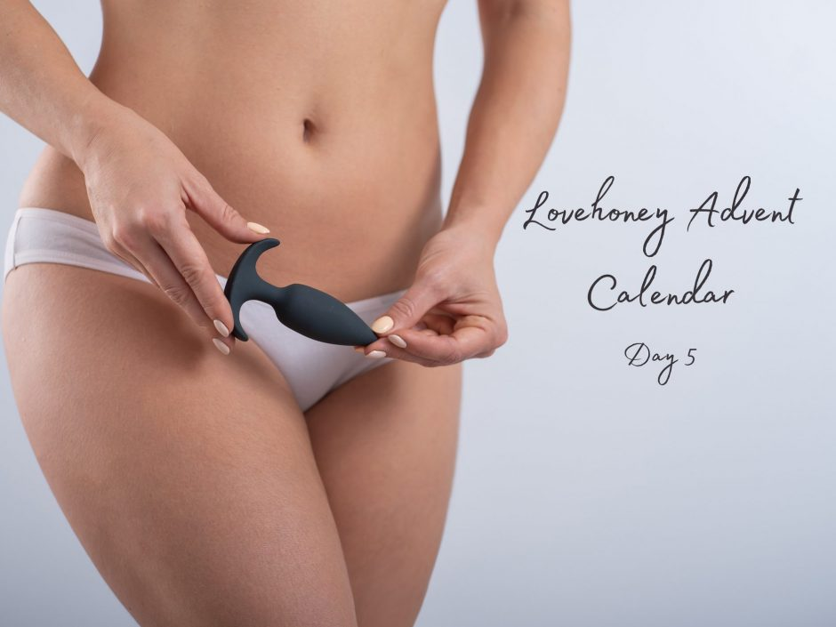 Header image for Lovehoney silicone butt plug review from adult advent calendar