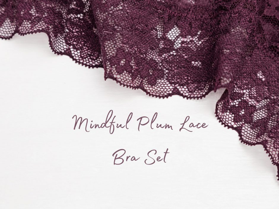 Lovehoney Mindful Plum Lace Bra Set